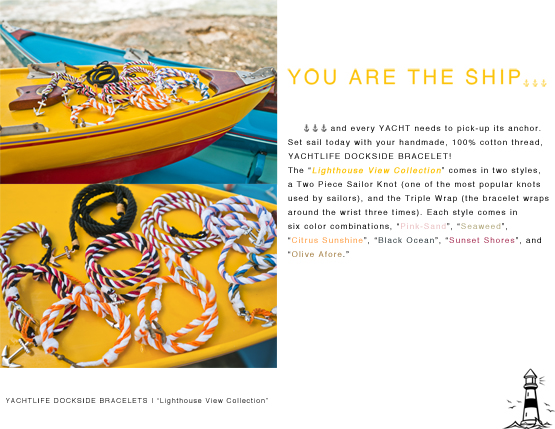LHV 2PREVIEW1 Introducing, YACHTLIFE DOCKSIDE BRACELETS