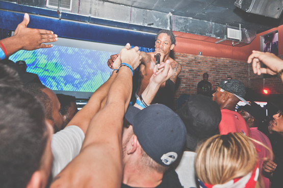 Travi$ Scott in Miami, Florida photographed by D. TUCKER at the Stage.